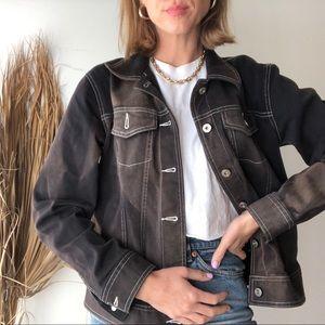 Bleach Distressed Vintage Jacket